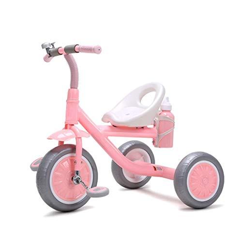 GaoF Triciclo multifunción portátil para niños con hervidor, Triciclo para Exteriores para bebés de 2 a 5 años, 2 Colores, 60x65x45cm (Color: Rosa)