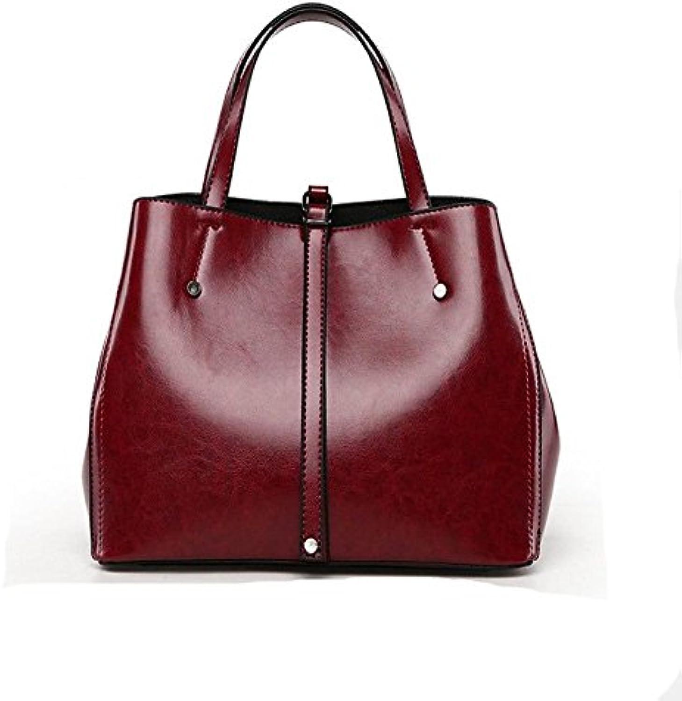 H&Y HY Damentaschen PU Tote Tasten, die Rote