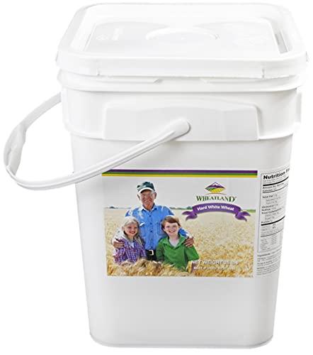Hard White Wheat Berries • 25 Pound Pail • USA Grown • Non-GMO • Lab Tested • Premium Baking Quality • Sproutable • Whole Grain • Emergency Food Storage • 25 year Shelf Life