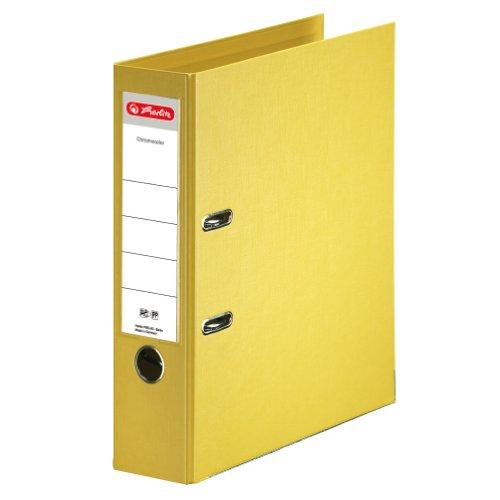 Herlitz 10834356 Ordner maX.file protect+ (A4, 8 cm) gelb