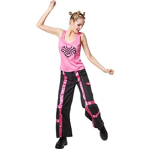 dressforfun 900561 Damenkostüm Coole Raverin, Zweifarbige Disco-Kombination im Raver-Look (S| Nr. 302695)