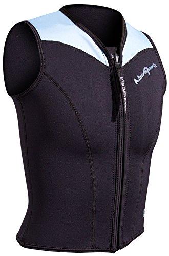 NeoSport Women's 2.5-mm XSPAN Vest (Black with Powder Blue Trim, 10) - Water Sports, Diving & Snorkeling