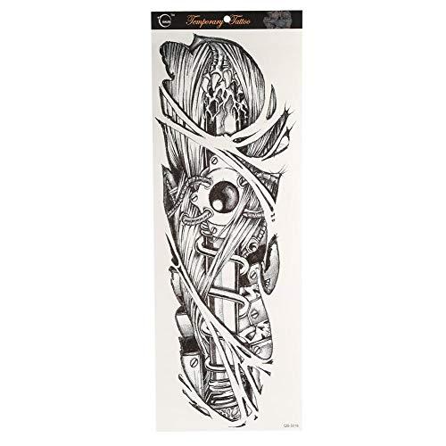 Autocollant de tatouage, 6 Pcs 19 * 7 pouces effaçable tatouage temporaire Art Decal Body Art pour les festivals, fêtes, concerts(#2)