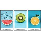 ZYJHD Minimalist Delicious Fruit Watermelon Orange Poster