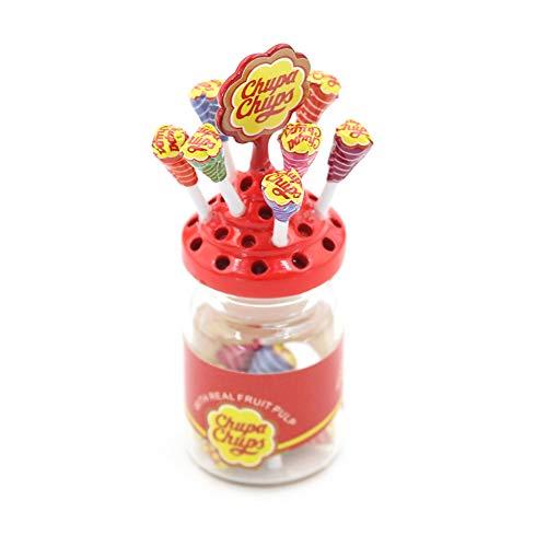 ypypiaol Lollipop De Azúcar De Postre En Miniatura con Soporte De Caja De Dulces Regalo De Accesorios De Casa De Muñecas 1#