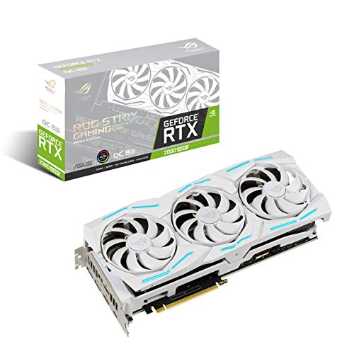 ASUS ROG Strix NVIDIA GeForce RTX 2080 Super Overclocked White Edition 8GB GDDR6 USB Type-C HDMI...