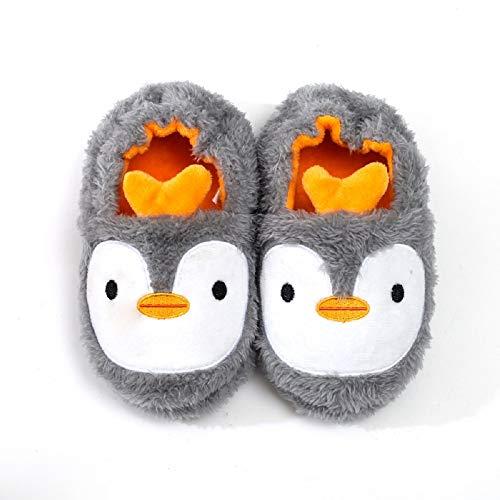 MASOCIO Hausschuhe Kinder Mädchen Junge Schuhe Kinderhausschuhe Haus Pantoffel Slippers Pinguin Größe 30 31