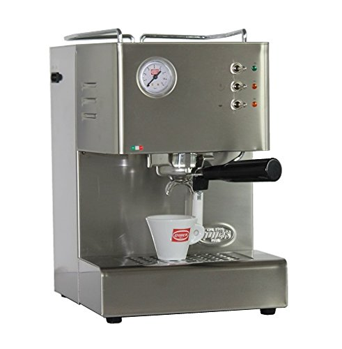 Quickmill Espressomaschine Cassiopea 03004 S,Neue Ausführung aus gebürstetem Edelstahl