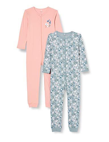 NAME IT Child Schlafanzug 2er-Pack Reißverschluss 86Pale Mauve