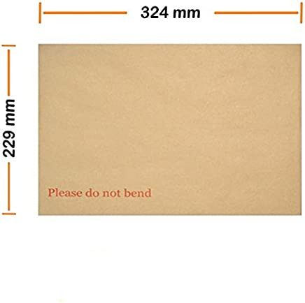 Arpan 324mm x 229mm A4 C4 Manilla Hard Board Backed Envelopes Do Not Bend (Pack of 20)