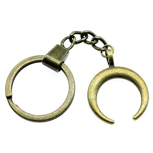TAOZIAA Schlüsselanhänger, Hörner, Halbmond, Mond, Hörner, Halbmond, Schlüsselanhänger, Geschenk für Frauen