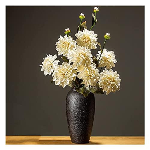 GPWDSN Künstliche Blumen Simulation Blumenstrauß Wohnzimmer Indoor Esstisch Büro Korridor Dekoration Blumenset Gefälschter Blumenschmuck Herbst Dahlie Gefälschte Blumen (Weiß)