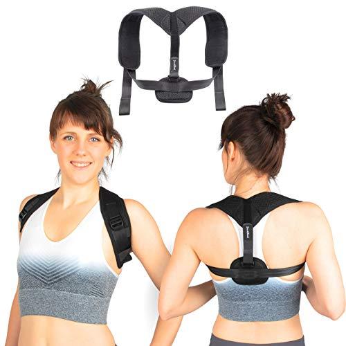 GoodBack [2.0] Geradehalter zur Haltungskorrektur für eine Gesunde Haltung inkl. eBook - Rückenstütze, Haltungstrainer für Damen und Herren – ideal zur Therapie gegen Rücken und Schulterschmerzen