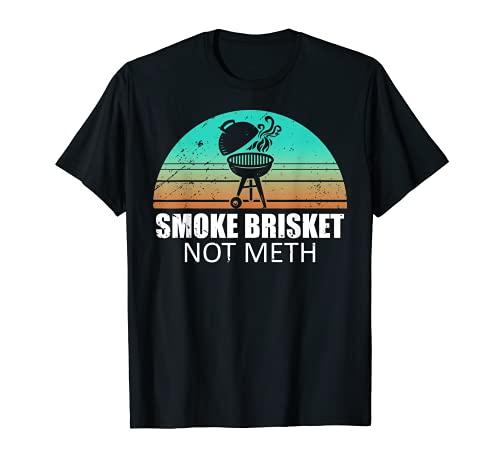 Smoke Brisket Not Mesh Shirt Crack Grilling Smoking Father T-Shirt