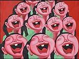 ZXYFBH Cuadros Decoracion Salon Moderno Minimalista nórdico Personaje Abstracto Pintura de Cara Sonriente Pintura Decorativa hogar Sala de Estar Dormitorio Lienzo Pintura 50x70cmnoframe 1