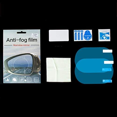 SeniorMar Vollbild Auto Rückspiegel Regenfilm Seitenfenster HD Flooding Film Umkehrspiegel Vollbild Anti-Fog Nano wasserdichte Folie