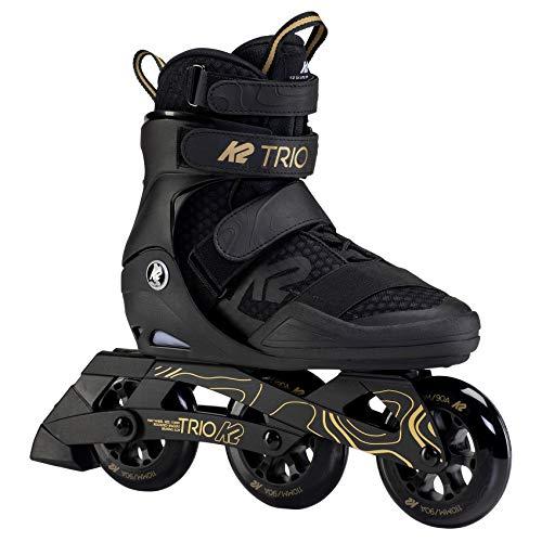 K2 Inline Skates TRIO 110 Für Erwachsene Mit K2 Softboot, Black - Gold, 30F0133