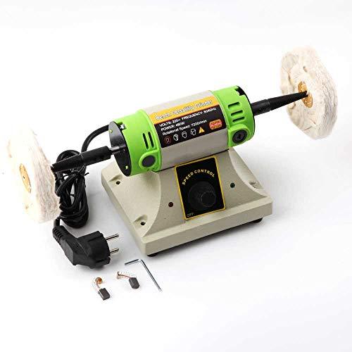 Bench Poliermaschine Set 220 V 480 Watt Stufenlos regelbarer Geschwindigkeit Elektrische Schleifmaschine Poliermaschine Polierer Jewery Geschwindigkeit Jewery