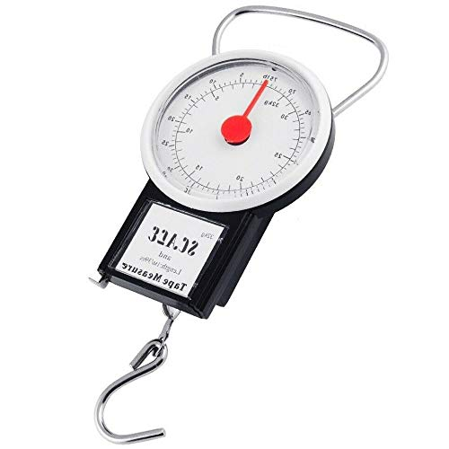 32KG Travel Bags Portable Luggage Travel Suitcase Manual Scale Hook Mechanical Weight Machine Tool with Tape Measure