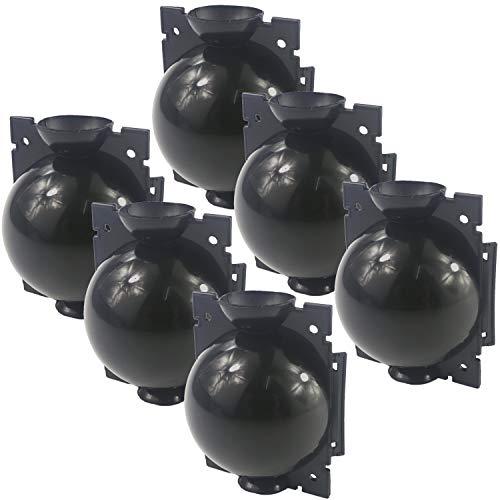 LANUCN Hochdruck Pflanzenzüchtung Ball Professional Propagatoren Gartenarbeit Anzuchtsets (6 Stück x Durchmesser 5 cm-Schwarz)