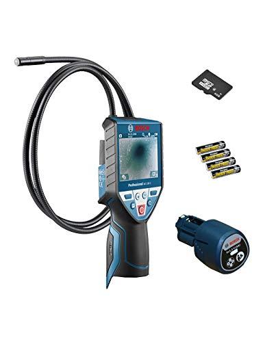 Bosch Akku-Inspektionskamera GIC 120 C, mit 4 x 1,5-V-(AA)-Batterien, Akku-Adapter 0601241200