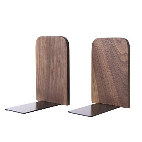 Lumpur Buchstützen 2 Stück Holz Zubehör Aufbewahrung Schreibtisch Halter Arbeit für Studenten Organizer Büro Walnuss rutschfest Buchständer Home