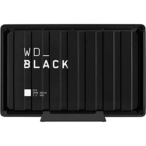 WD_BLACK D10 Game Drive for Xbox One 12 TB, HDD desktop da 7200RPM con Raffreddamento Attivo, per Archiviare Tutti i Tuoi Giochi per Xbox