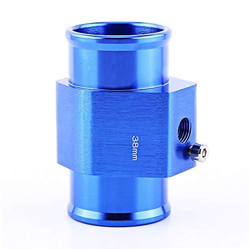 Keenso Universal Aluminium Wassertemperatur Verbindungsrohr Sensor Messgerät Heizkörper Schlauch Adapter, Blau (38mm)