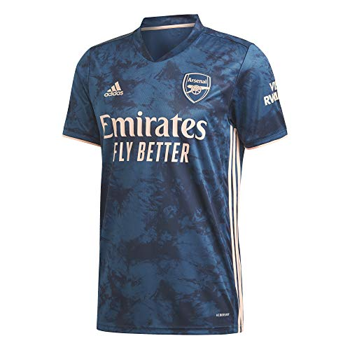 adidas Kinder Trikot Arsenal FC 3rd Jersey 2020/21, Legend Marine/Light Flash orange, 140, GH6645