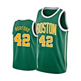 Boston Celtics Al Horford # 42 Camiseta de Baloncesto, Camiseta de Malla sin Mangas con Cuello Redondo, para Hombres Adultos (S-XXL)-Green-M