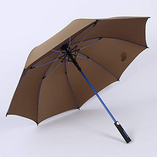 BAIYI Glasvezel Skelet Grote Dubbele Golf Paraplu Rechte Lange Handvat Winddicht Automatische Paraplu Automatische Rechte Golf Paraplu