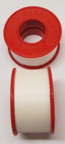 Rollenpflaster Rudasilk weiß 2,5cm x 9,14m Fixierpflaster Heftpflaster