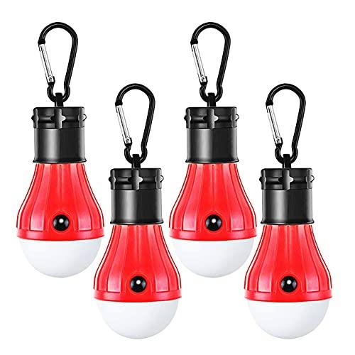 Ctzrzyt Bombillas Led Compactas para Acampar con Gancho de Clip Luz PortáTil para Tienda Al Aire Libre Emergencia para Acampar Senderismo Red