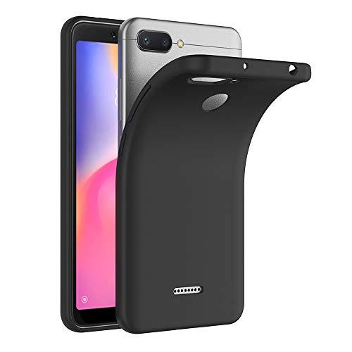 AICEK Xiaomi Redmi 6 Hülle, Schwarz Silikon Schutzhülle für Xiaomi Redmi 6 Hülle TPU Bumper Xiaomi Redmi 6 Handyhülle (5,45 Zoll)