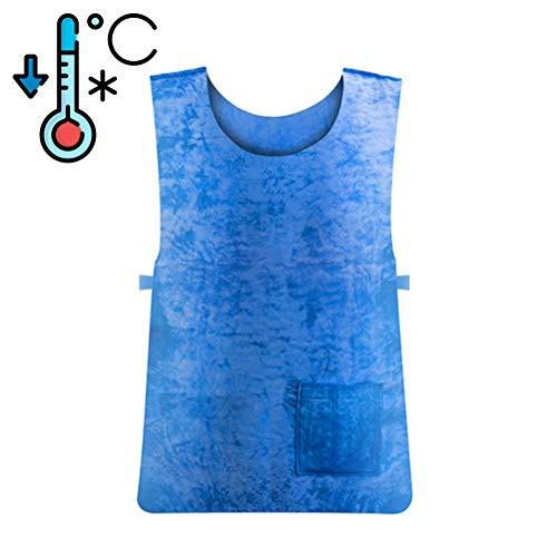 Wopohy Kühlweste kühlende Weste Sommer Anti-Hitze Hohe Temperatur Schutzkleidung für Outdoor-Sport Arbeit Angeln Laufen