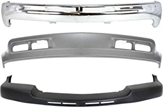 Bumper Kit Compatible with CHEVROLET SILVERADO 2500 Hd/3500 2001-2002 Front Set of 3 With Valance and Filler