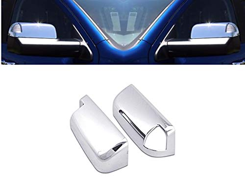 eLoveQ Chrome Top Half Mirror Covers Compatible with 2009-2017 Ram 1500, 2010-2017 Ram 2500 3500 W/Signal Cut Out (Do not fit Big Horn)