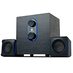 3W SATELLITE SPEAKERS with a powerfully-loaded subwoofer create clear sounding audio and a loud punch for their compact size, which make a perfect upgrade over built-in PC/monitor/TV stock speakers USB POWER cord & the AUX 3.5mm audio input maximize ...