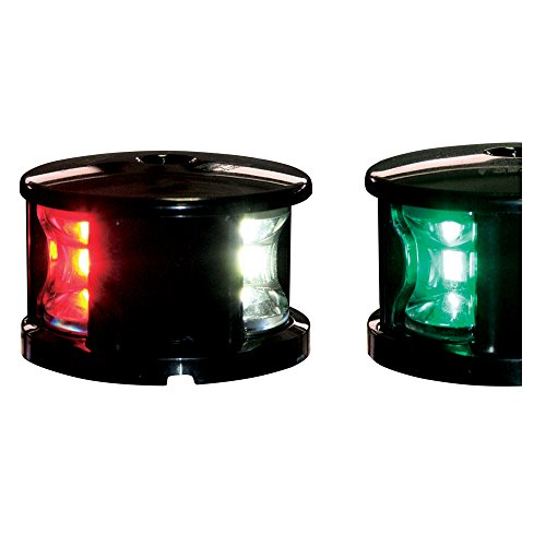 FOS LED 12 Dreifarbenlaterne Navigationslaterne Laterne tri-color, Farbe:schwarz