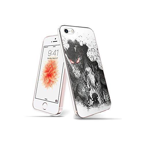 RO&CO YuAPiNY Diseñado para Funda iPhone SE, Funda iPhone 5S, Espalda Modelo Prevención de Golpes Parachoque TPU Carcasa iPhone SE/iPhone 5S / iPhone 5 YuB 006