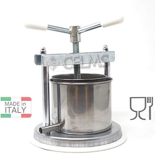 CELMS TORCHIETTO Premitutto con Certificazione Alimentare Ferro e Acciaio Inox 430 Made in Italy per Pomodori Melanzane Ortaggi Succhi Frutta e Olio (3kg-FerroZincato)