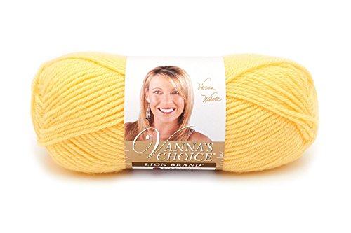 Lion Brand Yarn 860-159 Vanna's Choice Yarn, Lemon
