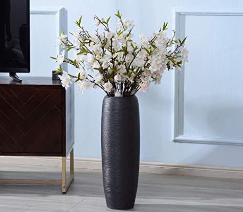 SYHPDT keramische vazen, Europese stijl retro vloer naast een grote tv-kast vaas hoge fles bloem vaas ornamenten woonkamer creatieve plant