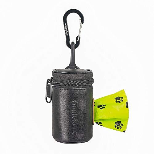 simpletome Kotbeutelspender für Hunde Hundekotbeutel Halter Wasserdicht 1680D Oxford YKK Reißverschluss (Schwarz)
