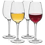 XEMIT Red and White Italian Wine Glass Big Wine for Beverage Party Glass