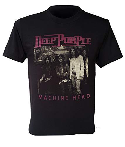 Deep Purple T-Shirt Machine Head English Retro Size S to 5XL Ian Gilla 3XL Black