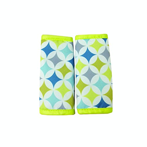 Nuby Car Seat Reversible Strap Covers 2 Pack, Yellow