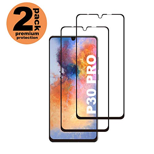 Huawei P30 Pro Panzerglas Schutzfolie, [2 Stück] Hohe Qualität Gehärtetem Glass [Case Friendly] [HD Clear] [Blasenfrei] [Anti-Fingerabdruck] Panzerglasfolie für Huawei P30 Pro