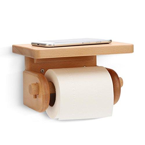 XUSHEN-HU Madera sólida Portarrollos Madera Creativa Caja de pañuelos de Papel higiénico Titular Dispensador