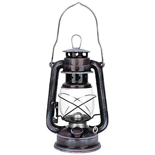 ZWWZ Lámpara de Queroseno clásica de 24 cm Lámpara de Queroseno Vintage Lámpara de Aceite Lámpara portátil para Acampar al Aire Libre